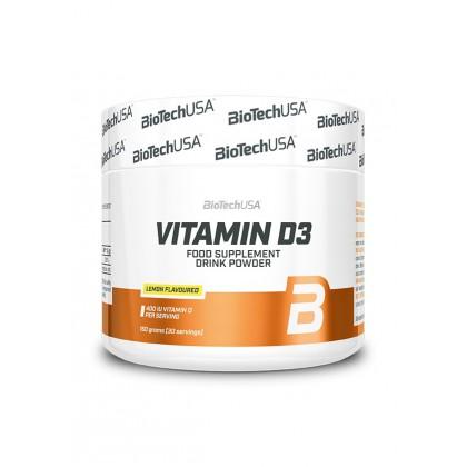 BioTechUSA Vitamin D3 - 150 g italpor lemon (citrom)